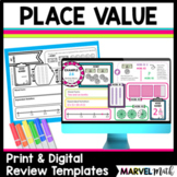 Whole Number & Decimal Place Value Review Templates
