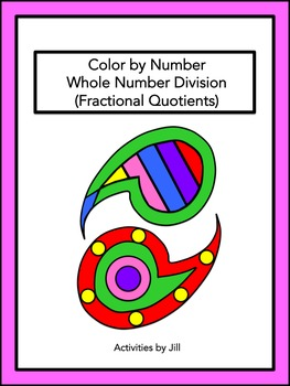 Whole Number Division (Fractional Quotients) Color by Number