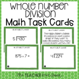 5th Grade Whole Number Division Task Cards | Division Game