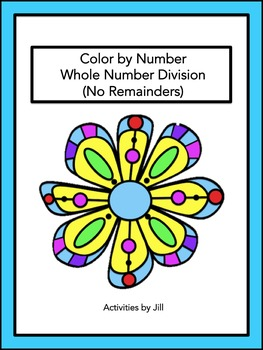 Whole Number Division (No Remainder) Color by Number