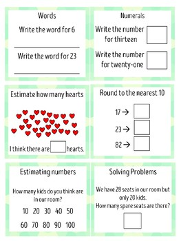 Whole Number Exit Tickets (NSW Syllabus)