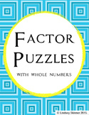 Whole Number Factor Puzzles with Key