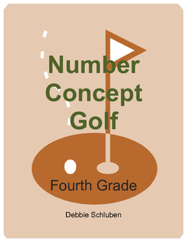 Whole Number, Fraction, Decimal Number Concept Golf Games for 4th Grade