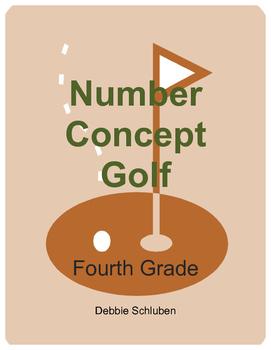 Whole Number, Fraction, Decimal Number Concept Golf Games