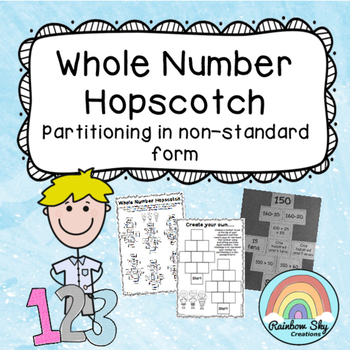 Whole Number Hopscotch - Non-standard form