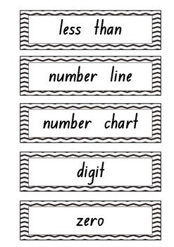 Whole Number Language Cards