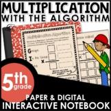Whole Number Multiplication Algorithm Interactive Notebook Set