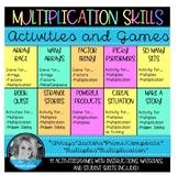 Arrays, Factors, Multiples & Multiplication Activities/Games Bundle