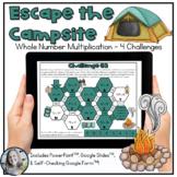 Whole Number Multiplication Digital Escape Challenge
