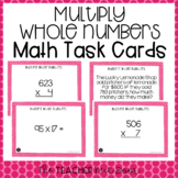 5th Grade Whole Number Multiplication Task Cards | Multipl