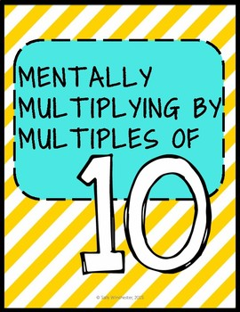 Mentally Multiplying by Multiples of 10, 5.NBT.5