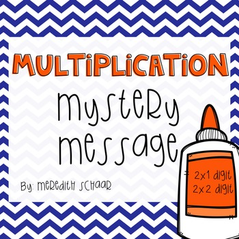 Whole Number Multiplication Mystery Message