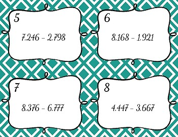 Whole Number Operation Task Cards