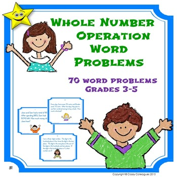 Math Problem Solving Word Problems Review and Test Prep