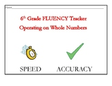 Whole Number Operations- Fluency Tracker and Answer Key