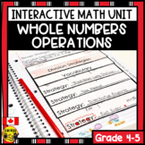 Whole Number Operations Interactive Notebook Grades 4-5