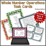 Whole Number Operations Task Cards
