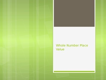 Whole Number Place Value