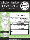 Whole Number Place Value: Expanded Notation (LESSON NOTES AND POWERPOINT)