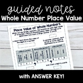 Whole Number Place Value GUIDED NOTES