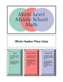 Whole Number Place Value (Levelled)