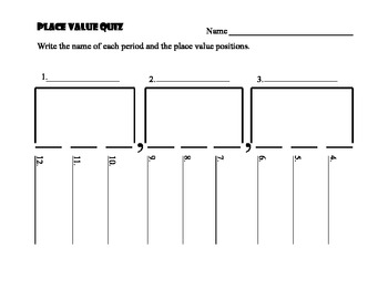 Whole Number Place Value Quiz