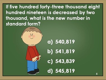 Whole Number Place Value Review, Grade 4