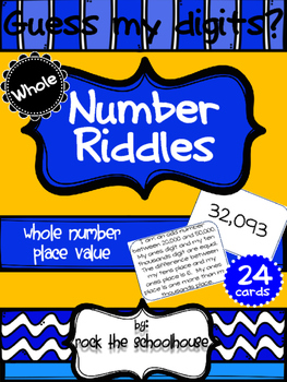 Whole Number Place Value Riddle Cards