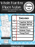 Whole Number Place Value Standard Expanded and Word Form (LESSON and POWERPOINT)