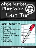 Whole Number Place Value Unit Test