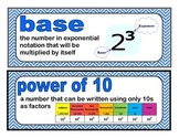 Whole Number Place Value and Operations Word Wall {EDM 4,