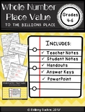 Whole Number Place Value to the Billions Lesson (PDF and P