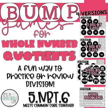 Whole Number Quotients   Division BUMP Games