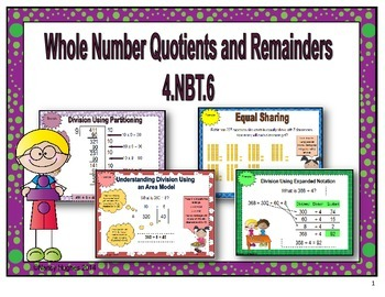 Whole Number Quotients and Remainders;4.NBT.6