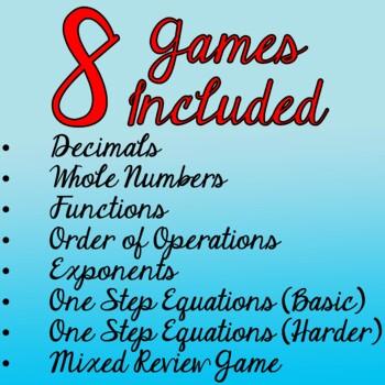 Whole Number Scavenger Hunt - Order of Ops, Exponents, & Basic Algebra