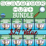 Whole Number Scavenger Hunt - Order of Ops, Exponents, & B