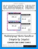 Whole Number Scavenger Hunt Set #2: Multiplying Multi-Digit Numbers (3 by 2)