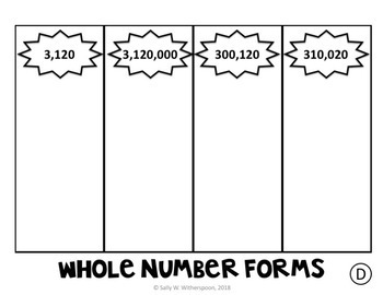 Whole Number Sorting Game: Expanded Form, Word Form, & Unit Form, 10 Rounds!
