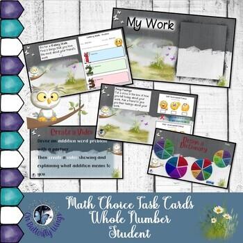 Whole Number Tasks - Student