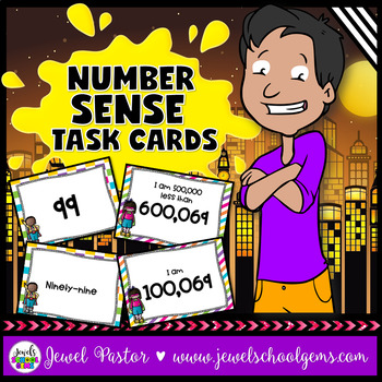Number Sense Activities Task Cards