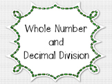 Whole Number and Decimal Division