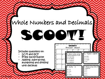 Whole Number and Decimal Scoot!