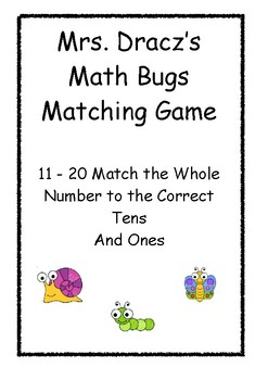 Whole Number and Tens Ones Match Cards