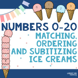 Whole Numbers 0-20 : Matching, Ordering and Subitizing Activity