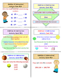 Whole Numbers Activity Cards Addition and Subtraction (Lesson Plan Included)