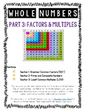 Whole Numbers Factors and Multiples Lessons