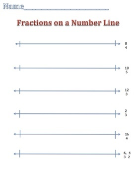 Whole Numbers (Improper Fractions) on a Number Line