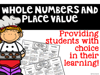 Whole Numbers & Place Value Math Menu