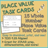 Whole Numbers Place Value Task Cards