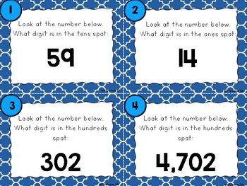 Whole Numbers Task Cards #1